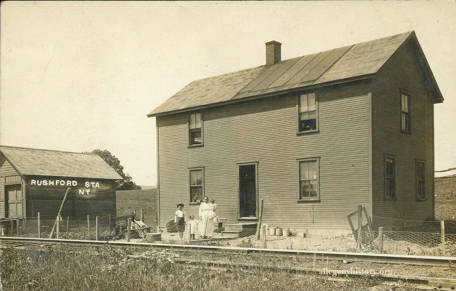 Tonawanda Valley & Cuba Railroad Station, Rushford N.Y. Photo contributed by Richard Palmer