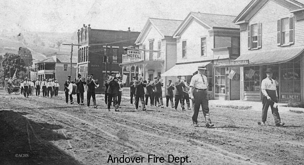 Andover Fire Department in Parade in Andover (date unknown)