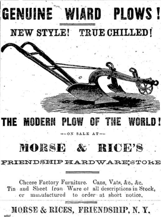 Advertisement for Morse & Rices, 1880