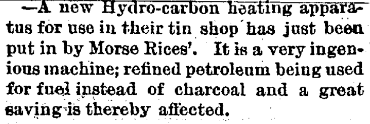 News Item, Town Topics, Friendship Chronicle, April 14 1880