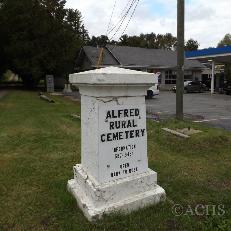 Alfred Rural Cemetery Entrance