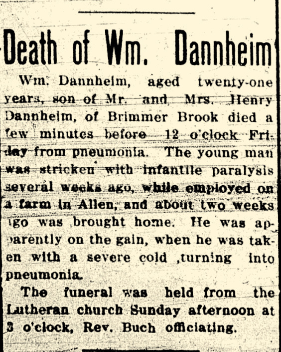 DANNHEIM William d.9-22-1911