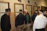 WWII vets view Andover Memorial Wall