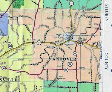 Map of Andover, N.Y.