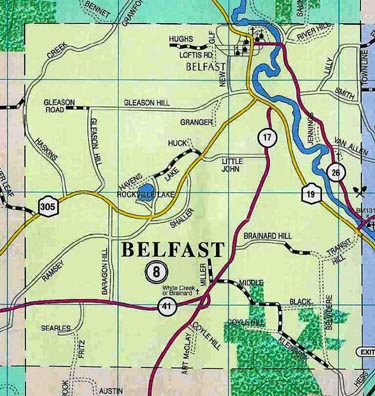 Map of Town of Belfast, N.Y.