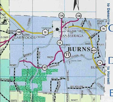 Map of Town of Burns, N.Y.