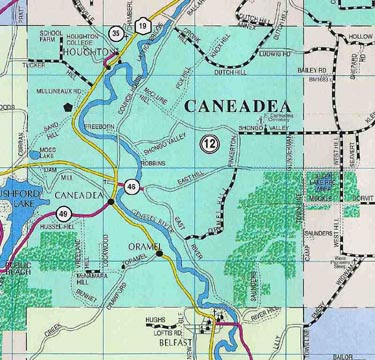 Map of Town of Caneadea, N.Y.