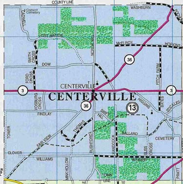Map of Town of Centerville, N.Y.