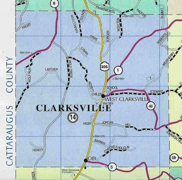 Map of Town of Clarksville, N.Y.
