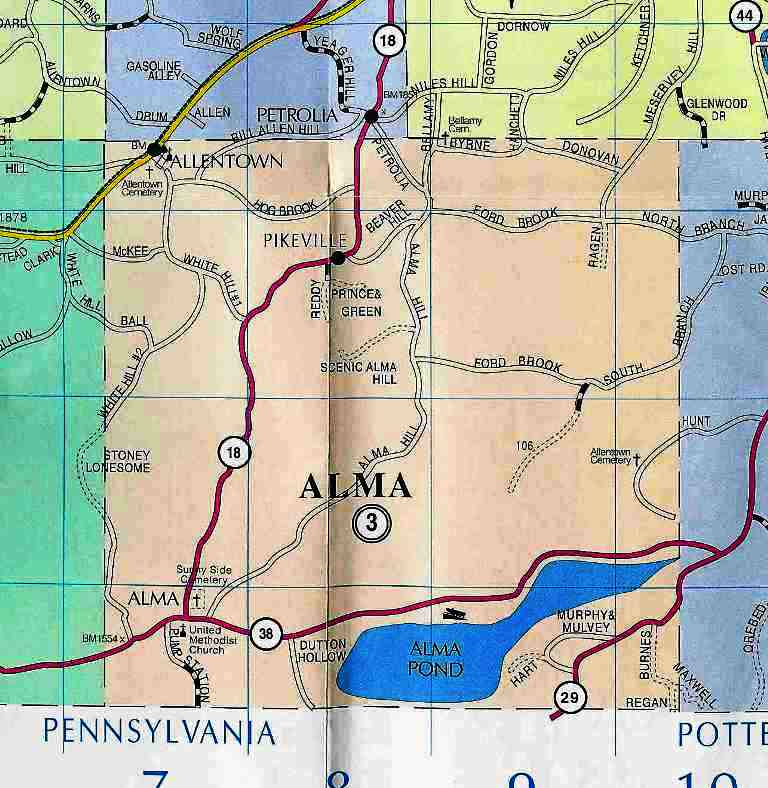 Town of Alma Map (2004)