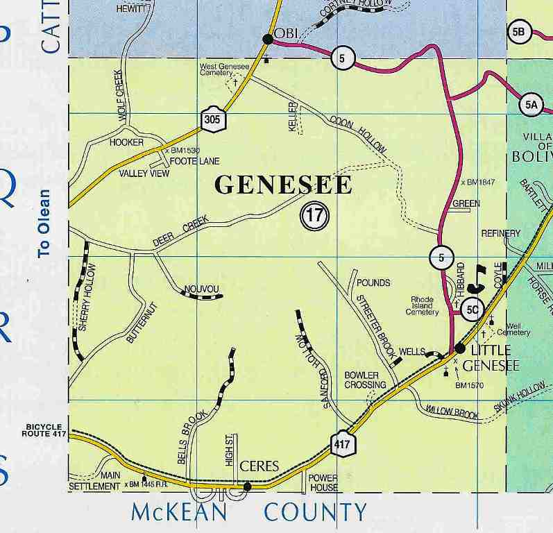 Town of Genesee Map (2004)