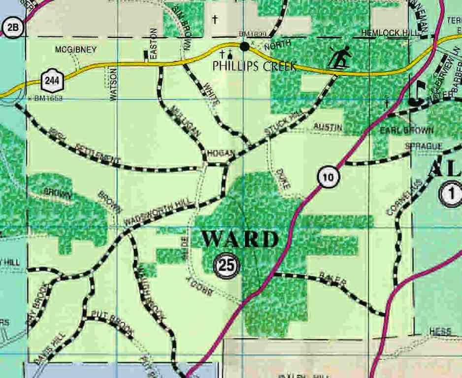 Town of Ward Map (2004)